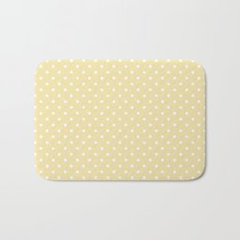 Dots (White/Vanilla) Bath Mat