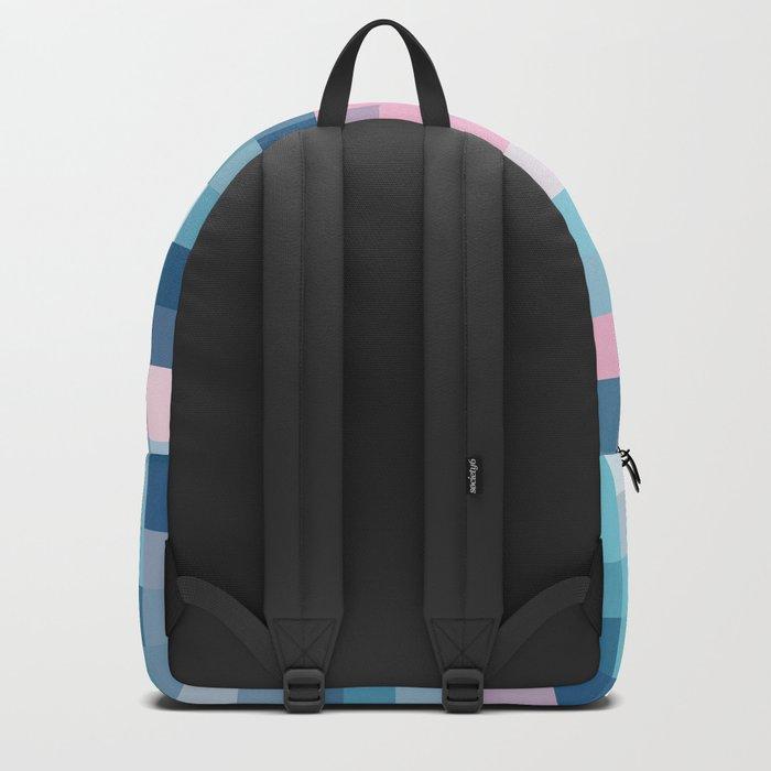 Mat Map Squares Aqua Backpack