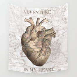 adventure heart-world map 1 Wall Tapestry