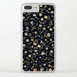 Vintage Tapestry II Floral Clear iPhone Case
