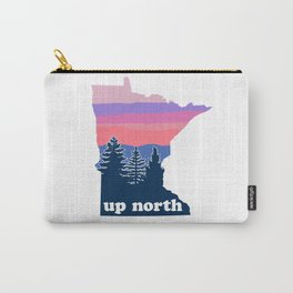 Up North Minnesota Blush Sunset Carry-All Pouch