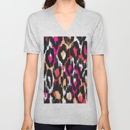 Pop Ikat Pattern Unisex V-Neck