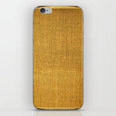 Burlap texture look iPhone Skin
