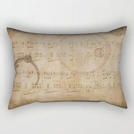1798 European Ephemera Antique Sheet Music Rectangular Pillow