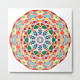 Abstract star mandala Metal Print