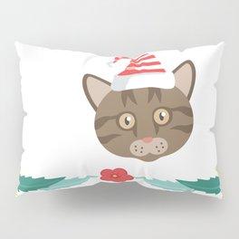 20% OFF ! Christmas Maine Coon Cat Santa Hat Pillow Sham