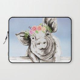Petunia Pig Laptop Sleeve