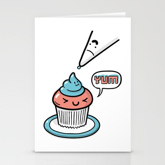 Friends Go Better Together 5/7 - Cupcake and Icing Stationery Cards