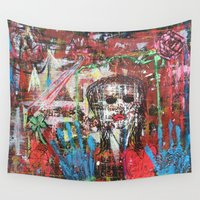 theatre Wall Tapestries featuring Dark Theatre by Pluto00Art / Robin Brennan