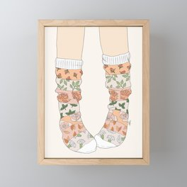Spring Socks Framed Mini Art Print