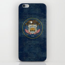 Utah State Flag, vintage retro style iPhone Skin