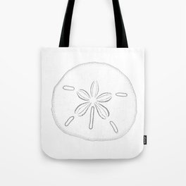 Sand Dollar Blessings - Black on White Pointilism Art Tote Bag