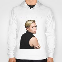miley cyrus Hoodies featuring Miley Cyrus  by Shaina