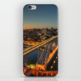 Porto twylight bridge iPhone Skin