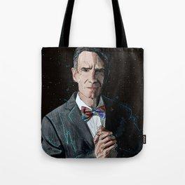 """""""The Science Guy"""" Digital, 2018. Original Digital Watercolor Painting, Bill Nye Tote Bag"""