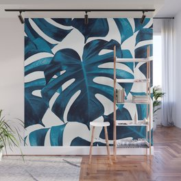 Tropical Monstera Leaves Dream #8 #tropical #decor #art #society6 Wall Mural