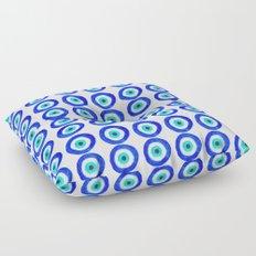 Evil Eye Talisman - on white Floor Pillow