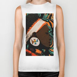 Zulu girl with zebraprint Biker Tank