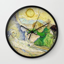 The Raising Of Lazarus, After Rembrandt - Digital Remastered Edition Wall Clock
