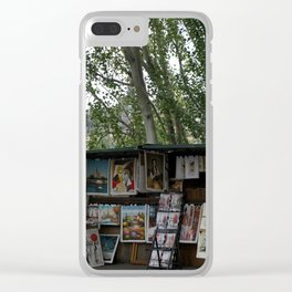 Paris Book Vendors 7 Clear iPhone Case