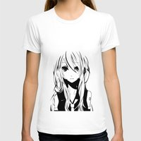 vocaloid T-shirts featuring Miku in a stream of colors by DPain
