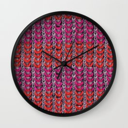 Neon Mikkey Knit Wall Clock