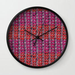Neon Mikkey Knit Wall Clock
