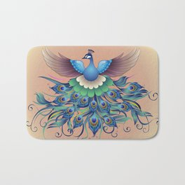 Peacock fly, in a decorative style Bath Mat