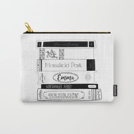 Jane Austen Book Stack Carry-All Pouch