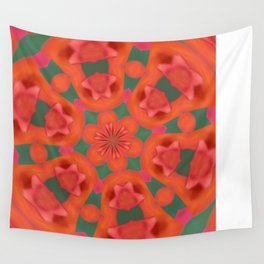 Succulent Red and Yellow Flower Abstract 2 Wall Tapestry