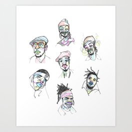 The Rapper-a-Day Project | Week 1 Art Print