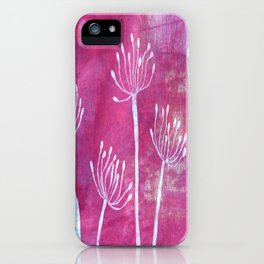 Alliums in Red iPhone Case