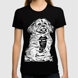 Copper the Havapookie Sketch T-shirt