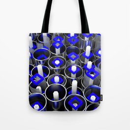 Metal tubes, hexagons and glass Tote Bag