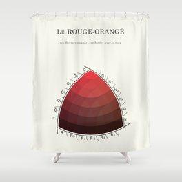 Le Rouge-Orangé (ses diverses nuances combinées avec le noir) Remake (Interpretation) Shower Curtain