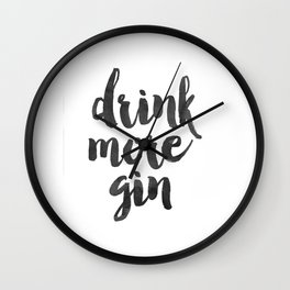 Decor Poster Quote Poster Inspiring Typography Print Quotes Premium Black and White Print gin Wall Clock