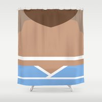 airbender Shower Curtains featuring Sokka by Lindsay Isenhour