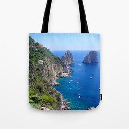 Isle of Capri Coastline Tote Bag