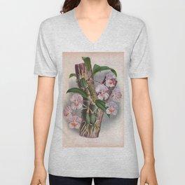 Aganisia Cyanea Little Pink Orchids Unisex V-Neck