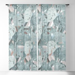 Monstera+Geo Sheer Curtain