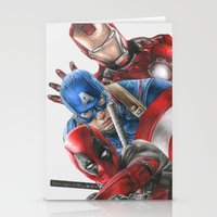 heroes Stationery Cards featuring Heroes  by Molly Thomas
