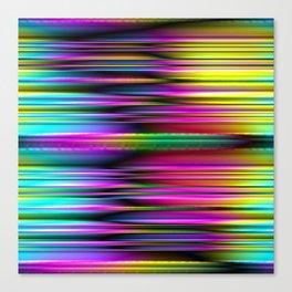 Iridescent sripes Canvas Print