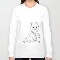 westie Long Sleeve T-shirts featuring Westie Sketch by Circus Dog Industries