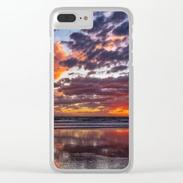 Blackie's Sunset Clear iPhone Case