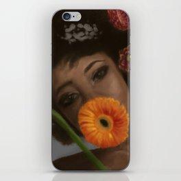 Sunflower Woman iPhone Skin