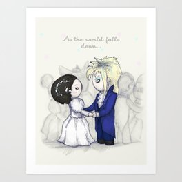 As The World Falls Down Plushie Art Print