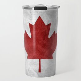 Canada Grunge Flag Travel Mug