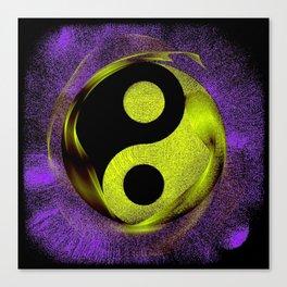 yin yang Ensō zen buddhism purple anise Canvas Print