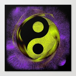 yin yang Ensō zen buddhism purple anise Canvas Print