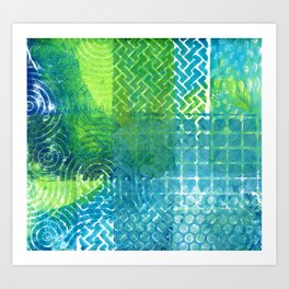 Industrial Blues and Greens Art Print